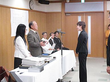 【写真1】 スチューデント・ドクター授与式